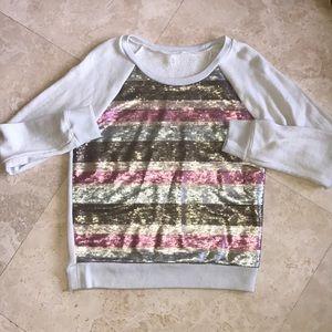 Victoria's Secret Bling Striped Sweatshirt